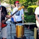 Band playing at dock