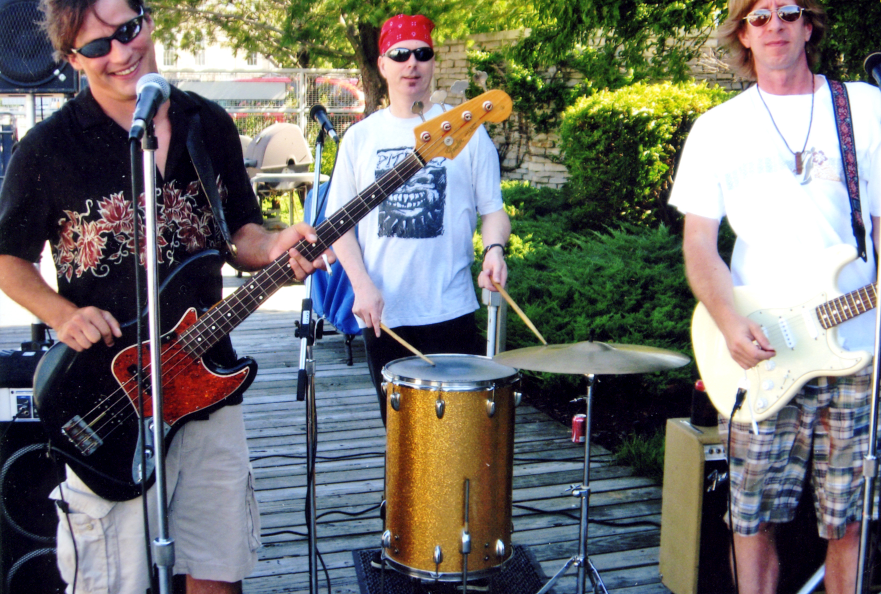 Band playing at dock