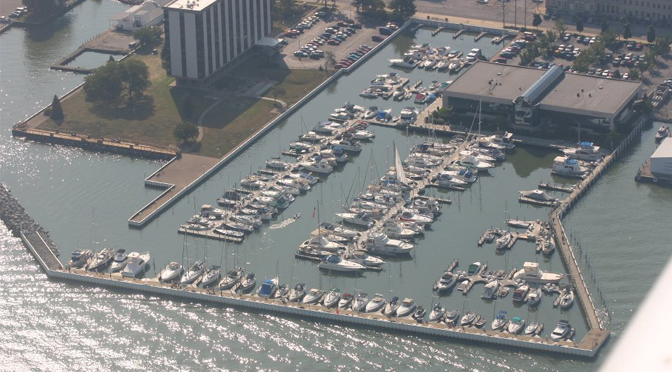 Dock of the Bay Marina Aerial View